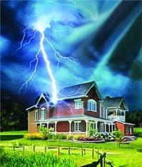 Молниезащита зданий, молниеприемник г.Саратов